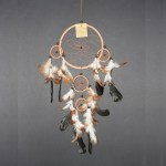Dream Catcher bruin leer Ø 16cm