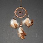 Dream Catcher bruin leer Ø 6cm